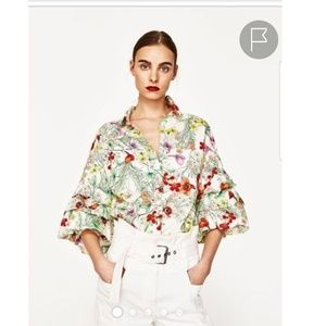 ZARA WOMAN FLORAL  BLOUSE